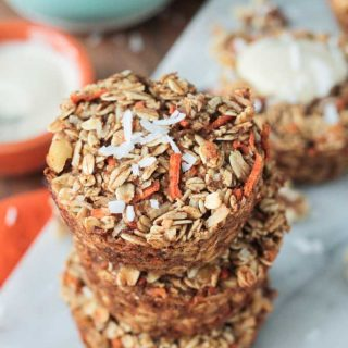 Carrot Cake Baked Oatmeal (gluten free, dairy free)