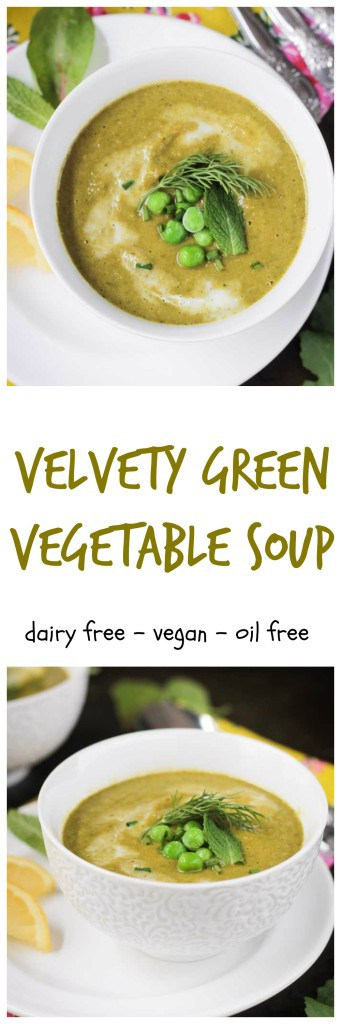 Velvety Green Vegetable Soup - This Green Vegetable Soup is smooth and creamy and loaded with spring greens. It's as delicious as it is healthy.