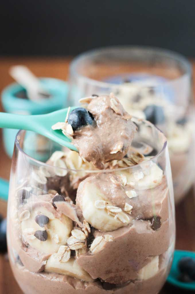 Chocolate Nice Cream Breakfast Parfait