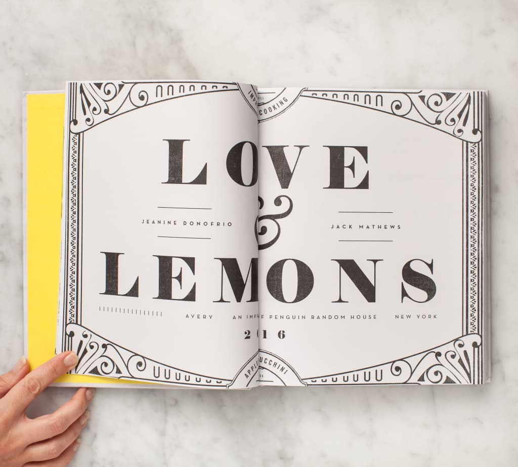 Inside pages of of the Love & Lemons Cookbook