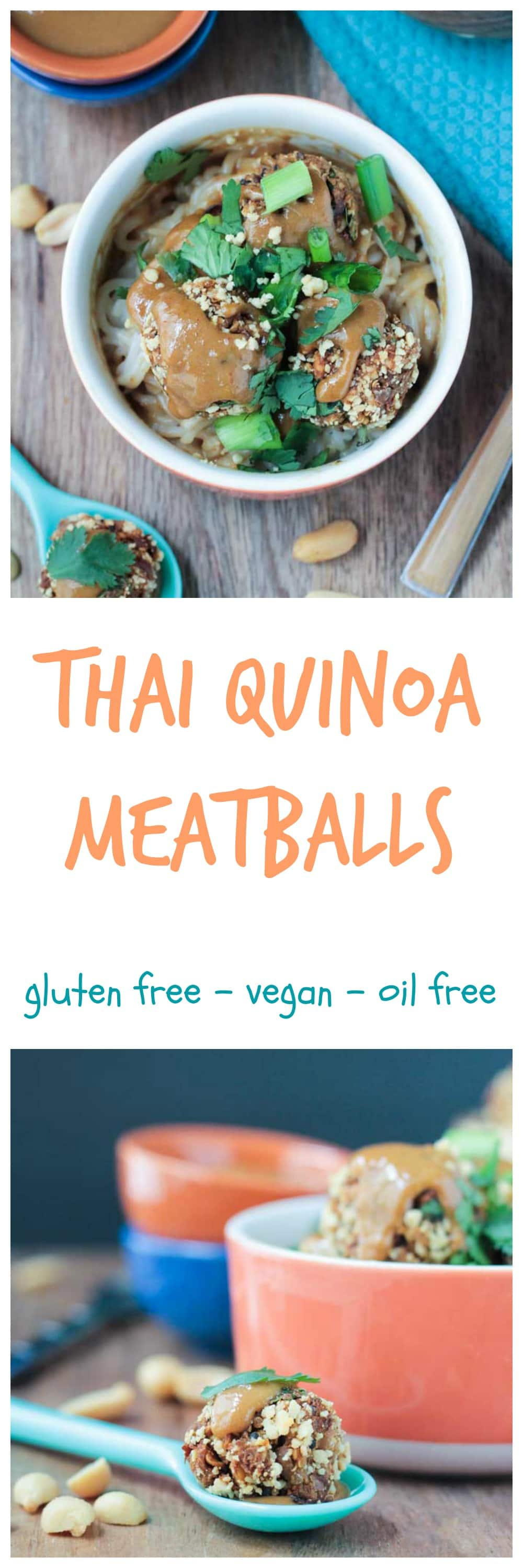 Thai Quinoa Meatballs recipe from Minimalist Baker's Everyday Cooking. So easy and so yummy!!  Vegan, gluten free, 10 ingredients or less. This book was designed for the busy home cook! #vegan #minimalistbaker #vegetarian #veggie