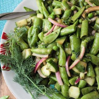 Sugar Snap Pea Salad  w/ Balsamic Vinaigrette