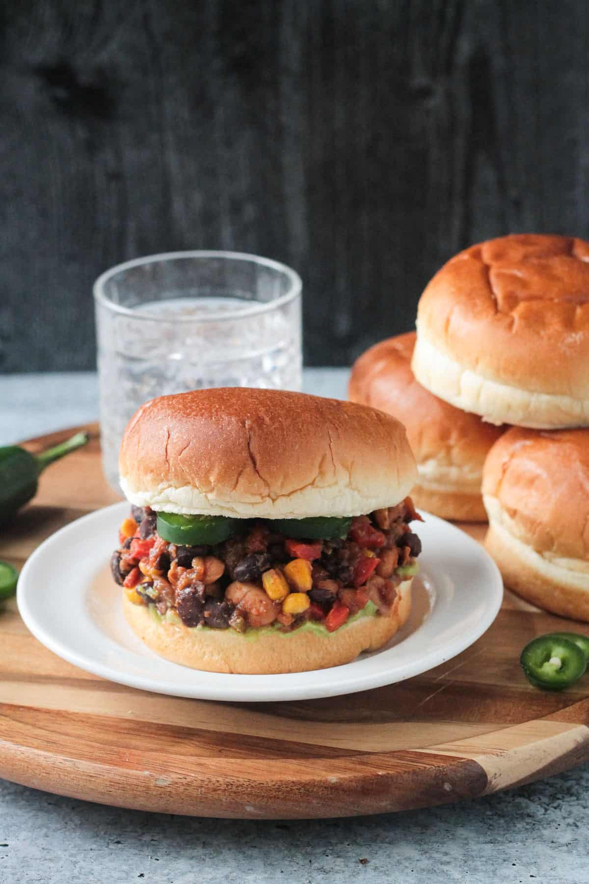 Healthy Sloppy Joes - finished dish on a white plate
