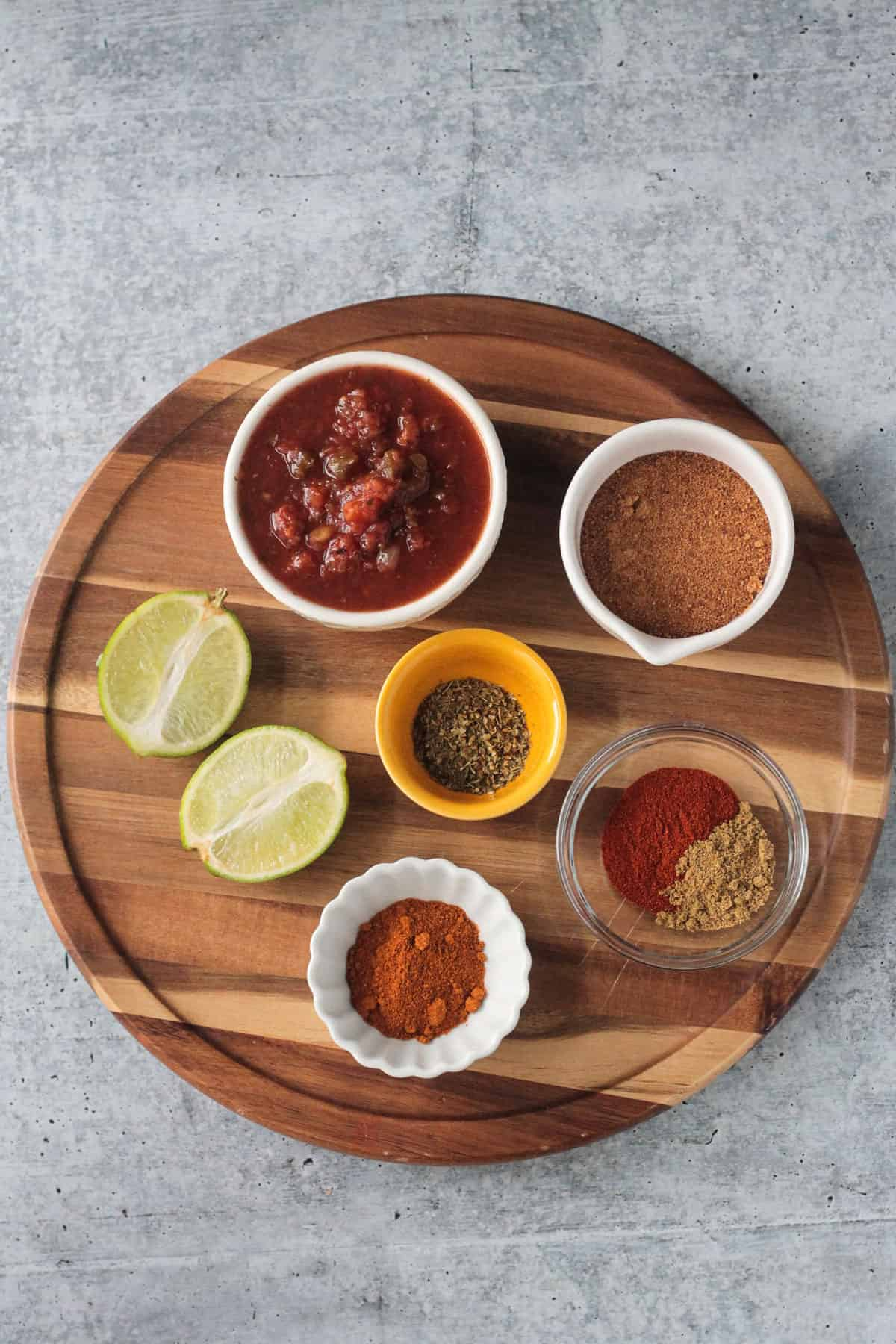 ingredients for Mexican BBQ sauce