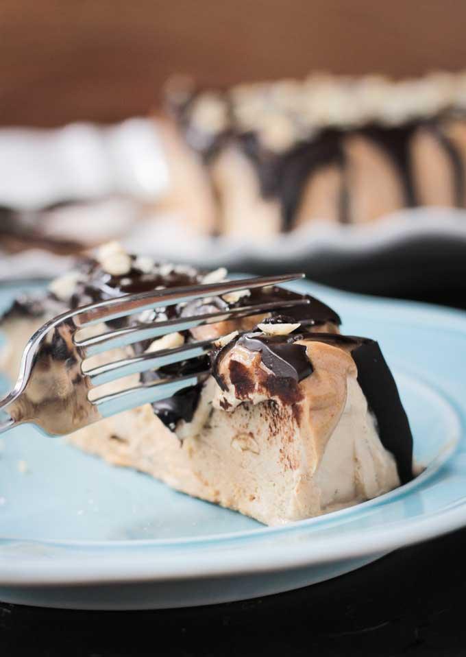 Caramel Peanut Vegan Ice Cream Cake