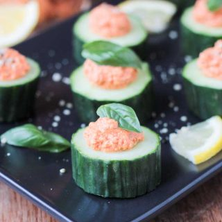 Cucumber Bites w/ Sun Dried Tomato Spread