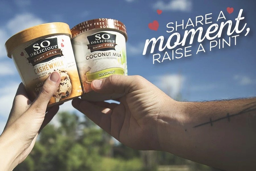 2 pints of So Delicious dairy free ice cream.