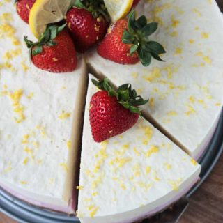 Strawberry Lemonade Ice Cream Cake (Dairy Free)