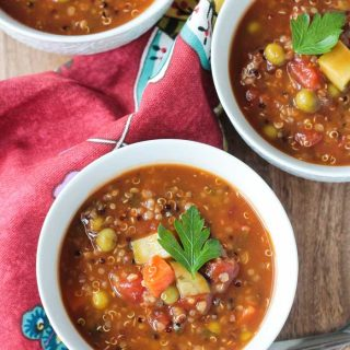 Quinoa Vegetable Soup (Dairy Free, Gluten Free)