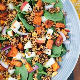 Quinoa Spinach Salad w/ Butternut Squash & Apple