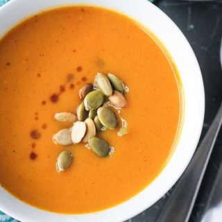 Butternut Squash Apple Soup (Dairy Free)