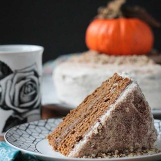 Chai Spiced Pumpkin Layer Cake (Vegan)
