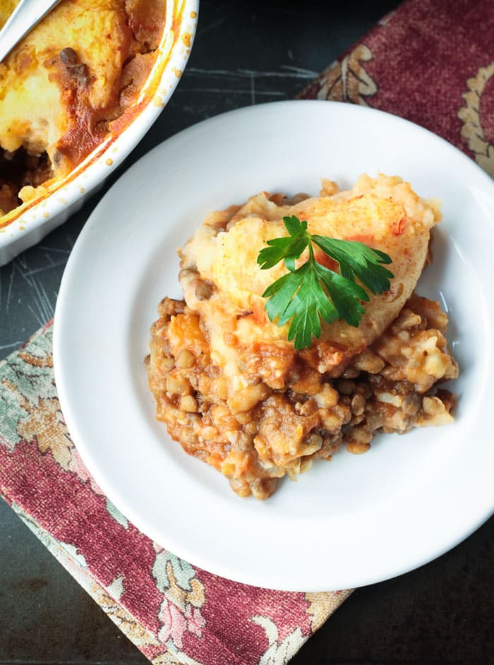 Lentil Vegetarian Cottage Pie