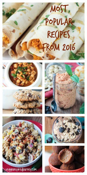 Most Popular Recipes from 2016 - Veggie Inspired Vegan Recipes