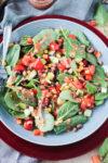 Black Eyed Peas Salad w/ Baby Power Greens