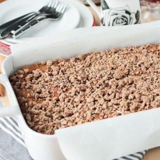 Vegan Cinnamon Coffee Cake w/ Streusel