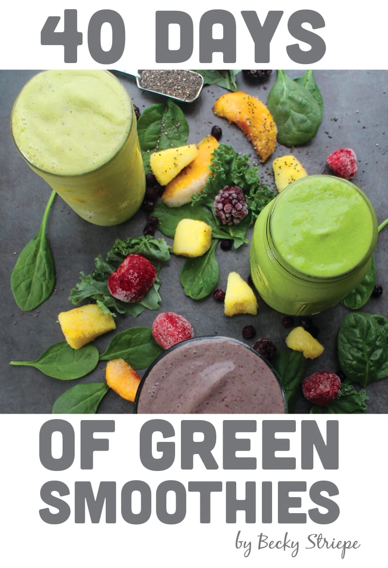 40 Days of Green Smoothies eBook cover