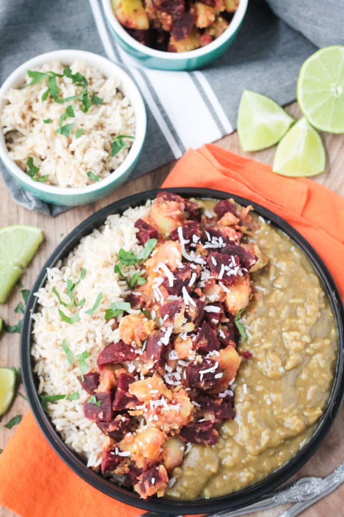 CSA Layered Indian Dinner for the Instant Pot ~ Veggie