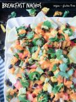 Breakfast Nachos from Veganize It! - vegan | gluten free | brunch | hearty | tofu | black beans | appetizer | snack | dairy free