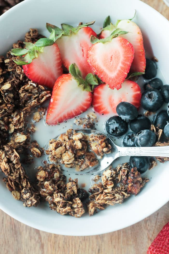 Coffee Granola - gluten free and easy to make.