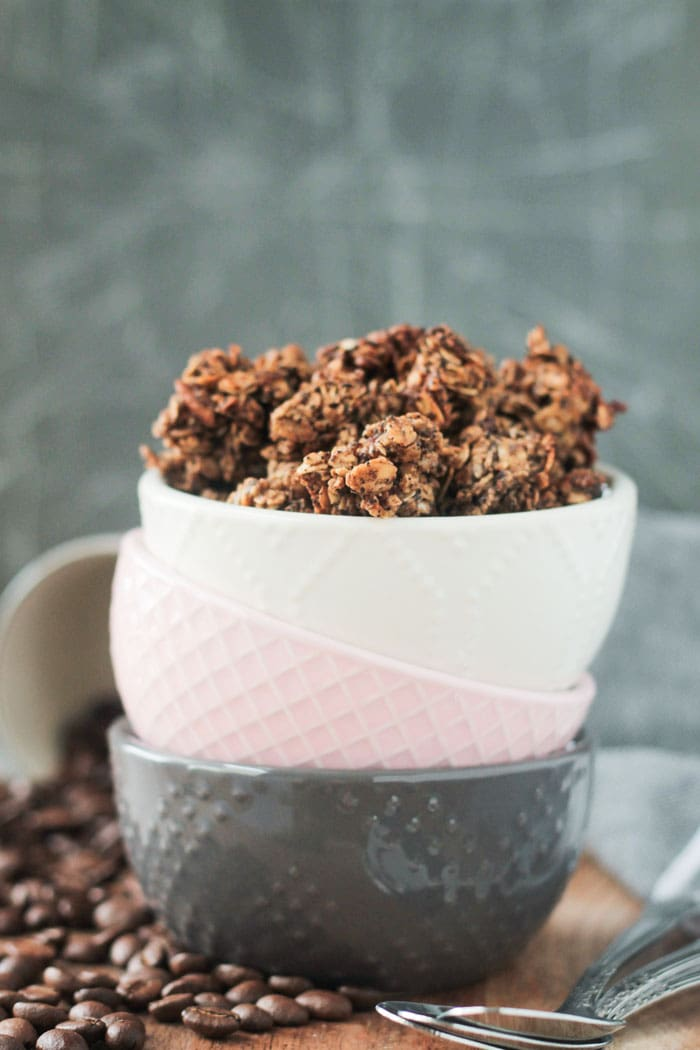 Coffee Granola - this addictive snack is sure to become your new afternoon pick me up.