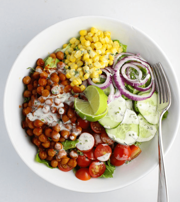 Vegan Chickpea Recipes - BBQ Chickpea Salad