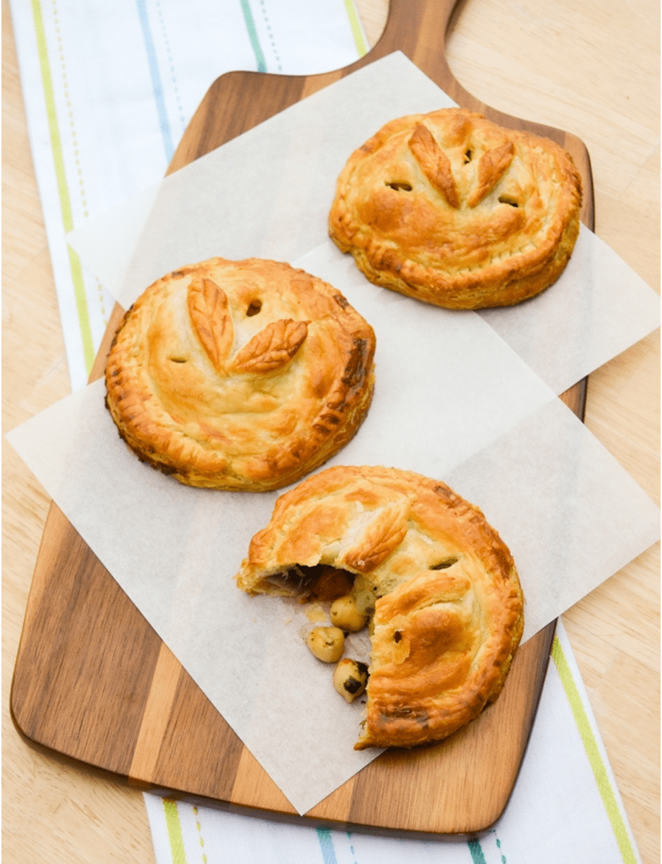 Vegan Chickpea Recipes - Chickpea Vegetable Hand Pies
