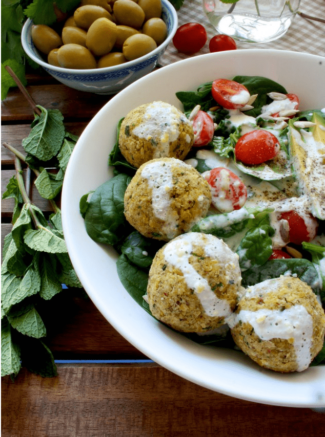 Vegan Chickpea Recipes - Crispy Baked Falafel