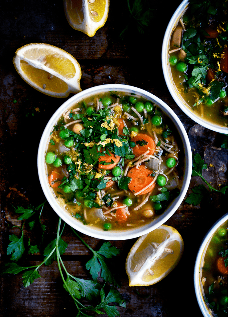 Vegan Chickpea Recipes - Chickpea Noodle Soup