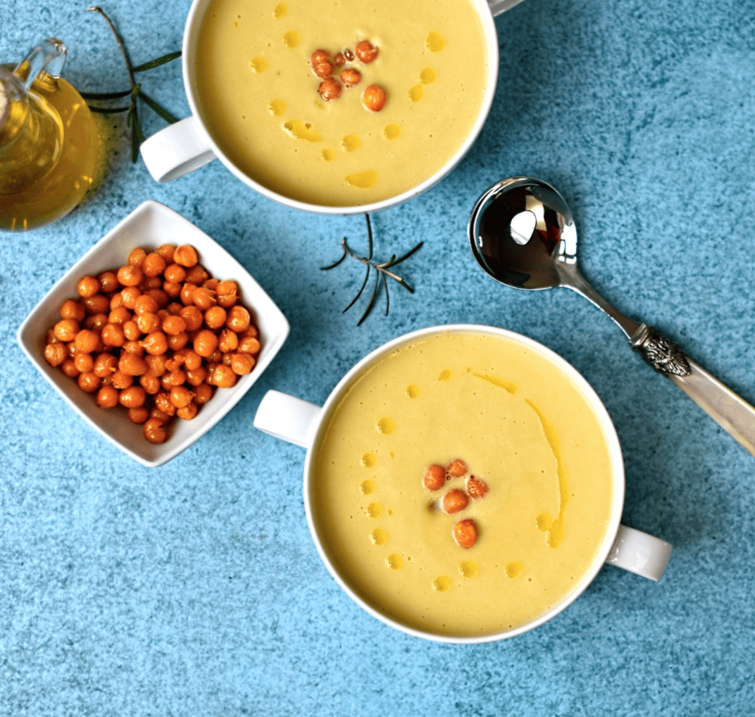Vegan Chickpea Recipes - Chickpea Soup w/ Rosemary Oil