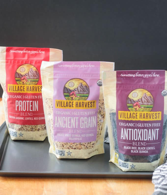 Village Harvest 3 new grain blends - Protein, Ancient Grain, and Antioxidant.