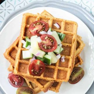 Crunchy Corn Waffles – Bold Flavored Vegan Cooking