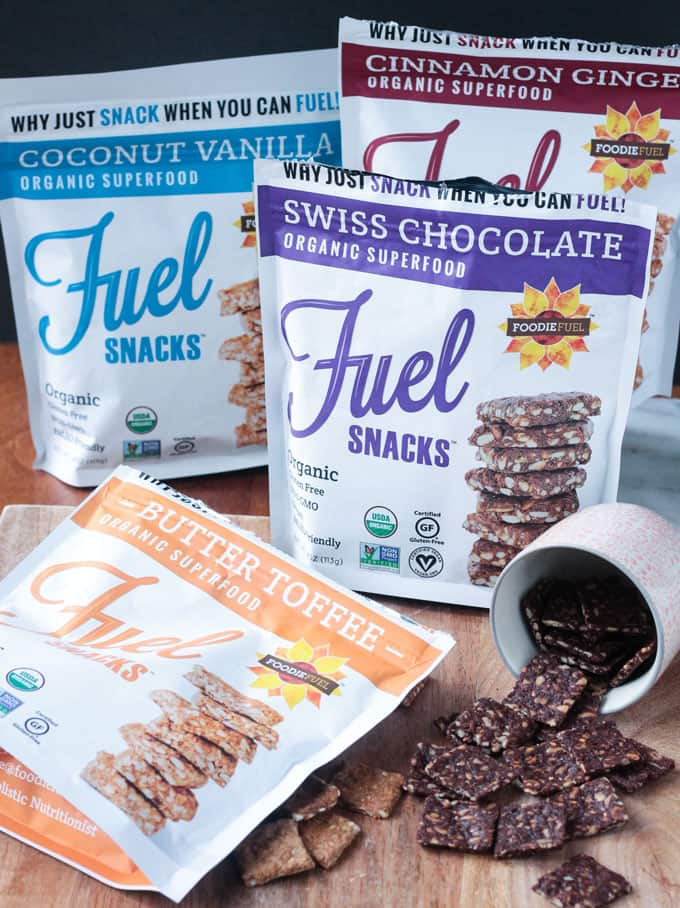 4 packages of Foodie Fuel Snack Crackers