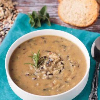 Creamy Leek and Wild Rice Soup (Vegan, Gluten Free)