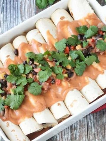 Black Bean Vegan Enchiladas