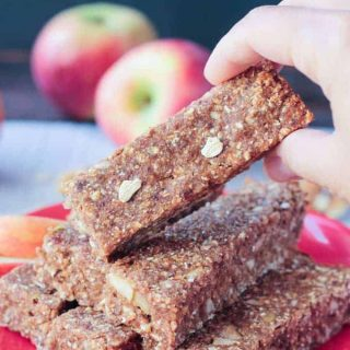 Sugar Free Apple Pie Bars (Gluten Free, Oil Free)