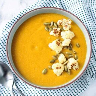 Sweet Potato Cauliflower Vegan Soup (Gluten Free)