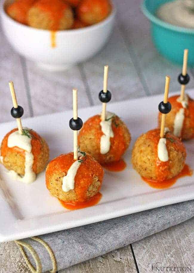 Vegan Appetizers: Buffalo Quinoa Balls