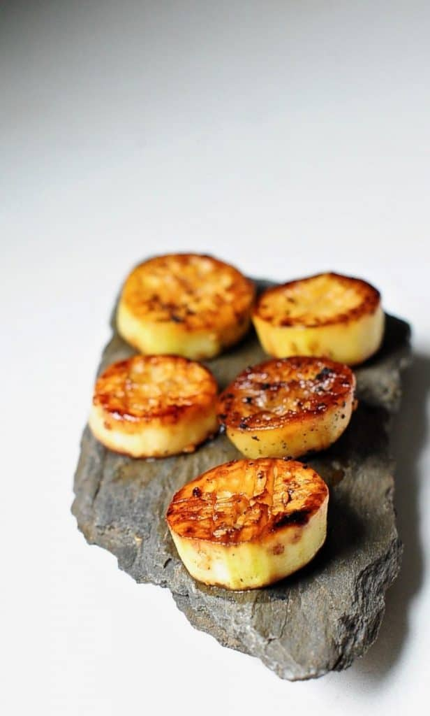 Vegan Appetizers: Miso Glazed Eggplant Scallops