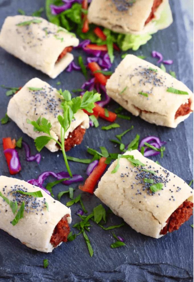Vegan Appetizers: Vegan Sausage Rolls