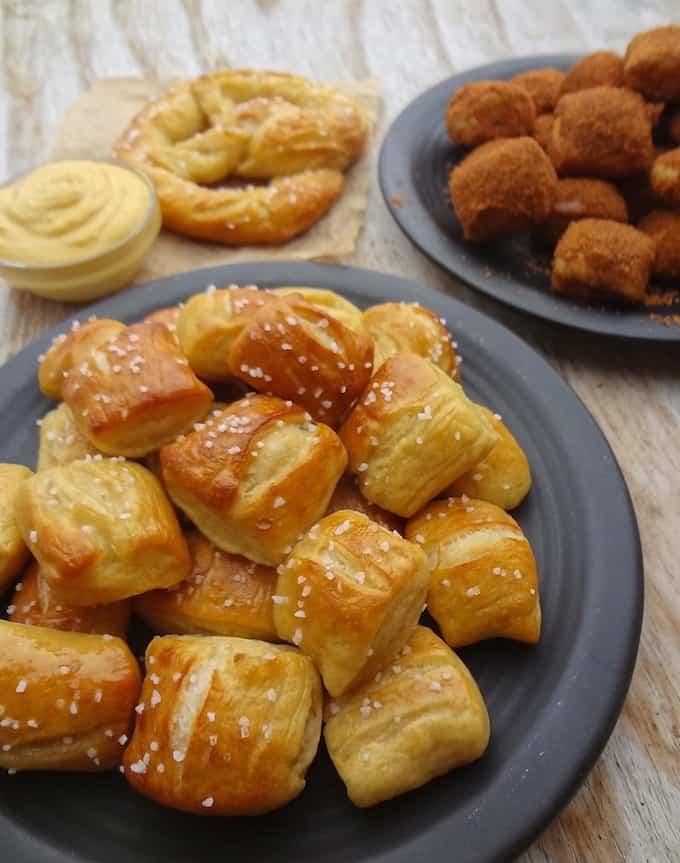 Vegan Appetizers: Soft Pretzel Bites