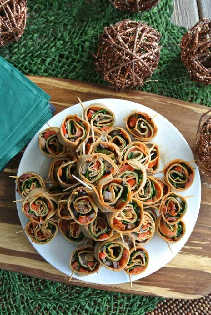 Vegan Appetizers: Spicy Tortilla Rollups