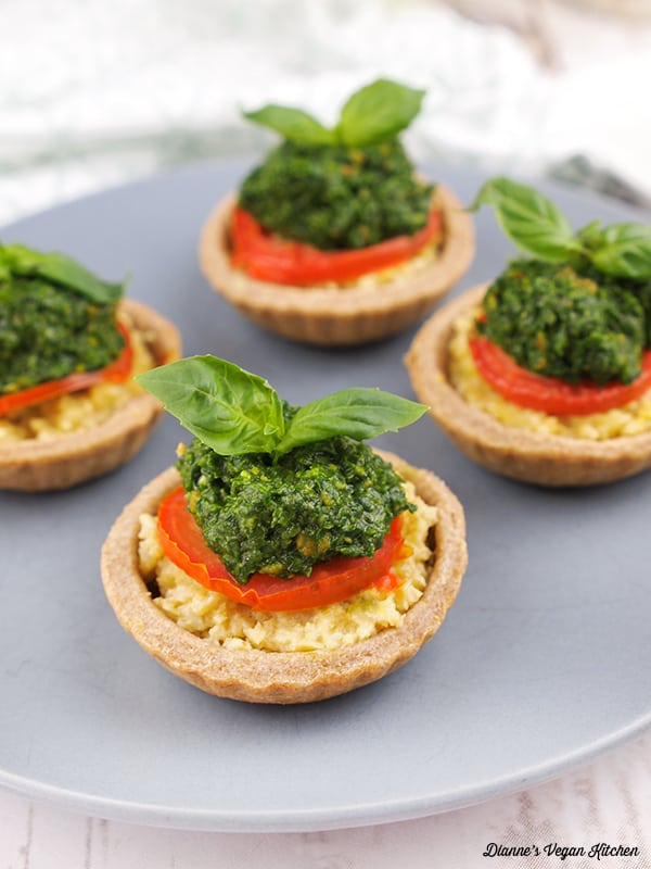 Vegan Appetizers: Tomato Tartlets