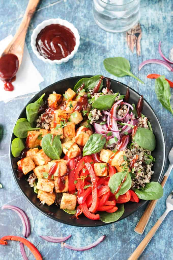 Bbq Hawaiian Tofu Bowl The Simply Vegan Cookbook