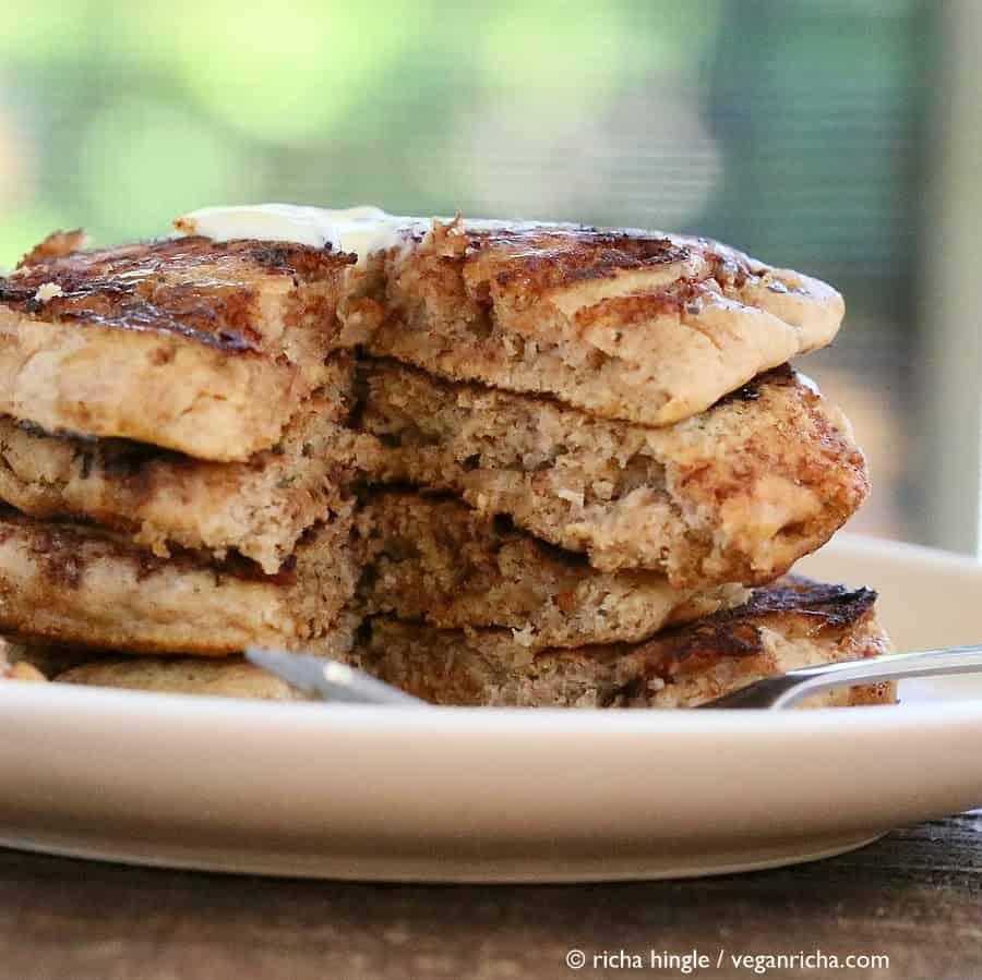 Vegan Pancakes: Cinnamon Roll Pancakes