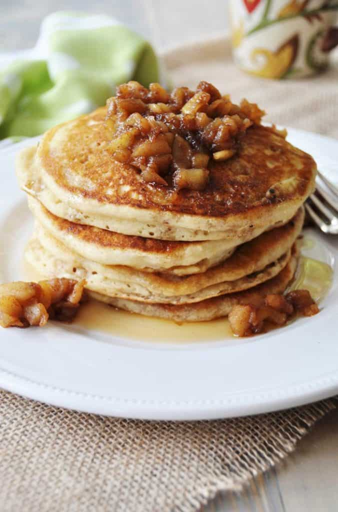 Vegan Pancakes w/ Spiced Apple Compote