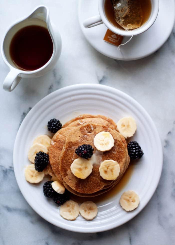 Vegan Pancakes: Gluten Free Vegan Banana Blender Pancakes