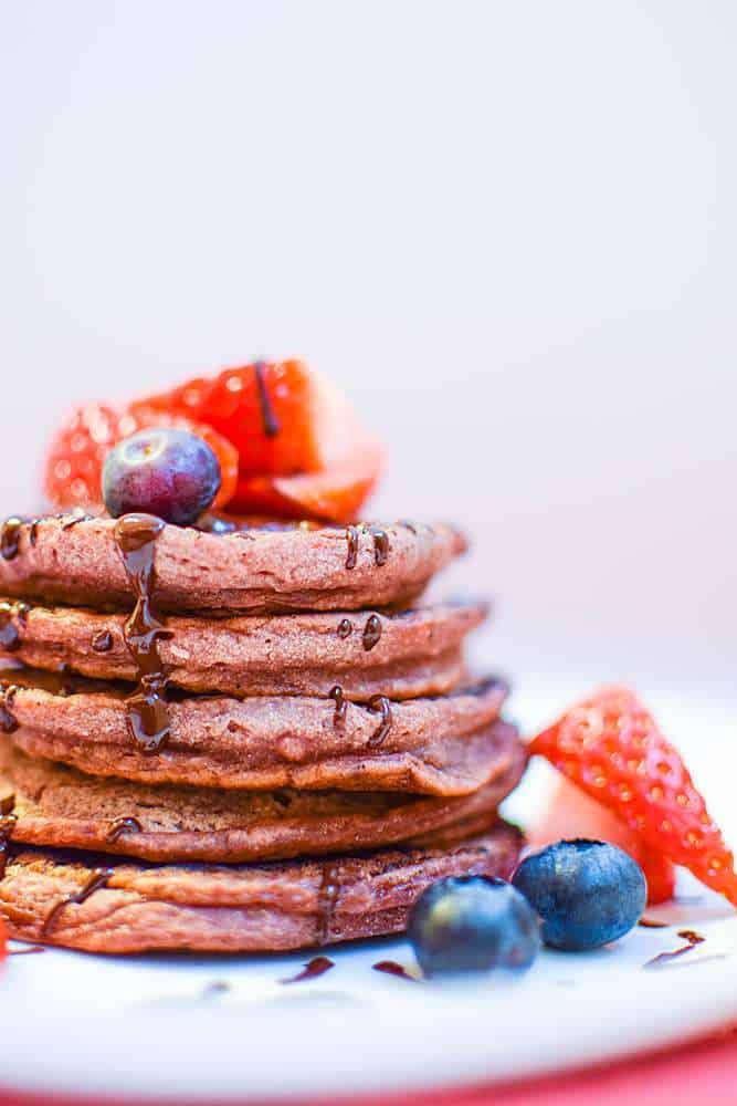Vegan Pancakes: Vegan Pink Pancakes