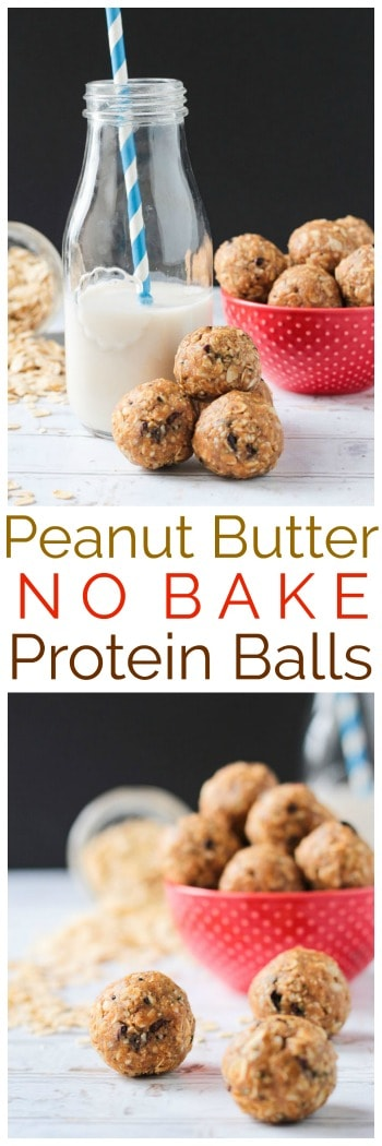 Peanut Butter No Bake Protein Balls w/ superfoods like hemp seeds, flax seeds, and cacao nibs are the perfect little bites to keep hunger at bay. Great for a grab-n-go breakfasts, after school snacks, lunchbox treats, or even dessert. Vegan, gluten free, and refined sugar free! #vegan #glutenfree #refinedsugarfree #snack #breakfast #dessert #nobake #quickandeasy #dairyfree