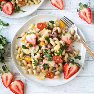 Creamy Balsamic Summer Pasta Salad